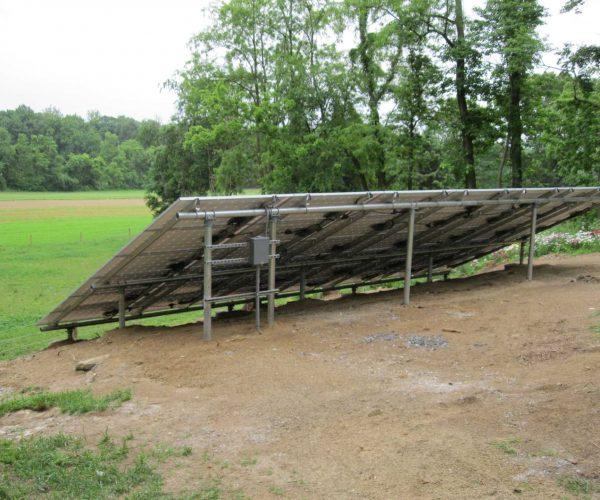 solar panels in meadow