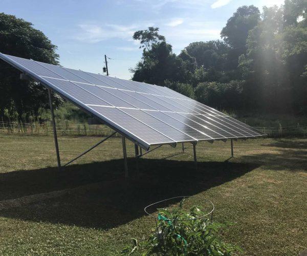 backyard solar panel
